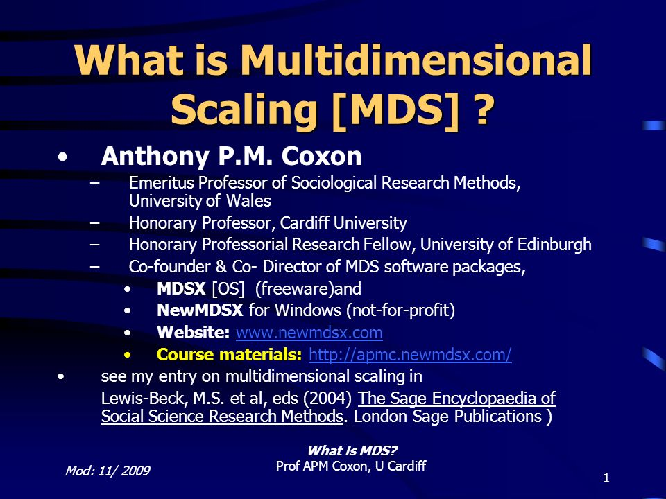 What is Multidimensional Scaling [MDS]
